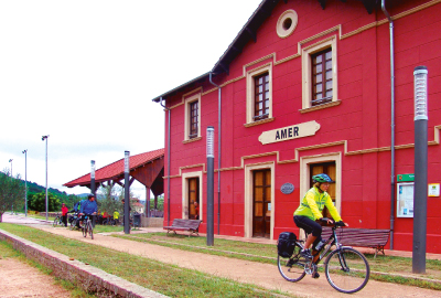 Vies Verdes de Girona. Ruta en bicicleta per Girona.