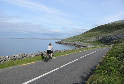 Pedalant per Clare and The Burren. Ruta famosa d'Irlanda.